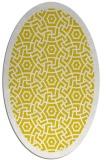 rug #363317   oval yellow borders rug