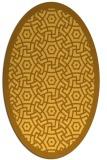 rug #363321   oval light-orange circles rug