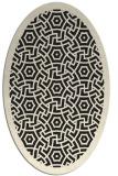 rug #363325 | oval black circles rug
