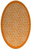 rug #363333 | oval orange circles rug