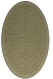 rug #363341 | oval light-green rug