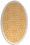 rug #363365 | oval light-orange borders rug
