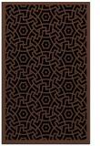 rug #363385 |  brown geometry rug