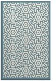 rug #363393 |  blue-green circles rug