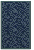 rug #363401 |  blue-green circles rug