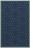rug #363401 |  blue circles rug
