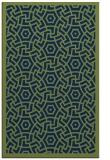 rug #363405 |  blue borders rug