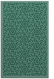 rug #363425 |  blue-green circles rug