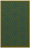 rug #363429    green geometry rug
