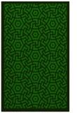 rug #363437    green circles rug