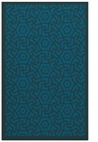 rug #363449 |  blue-green geometry rug