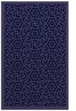rug #363453    blue-violet borders rug