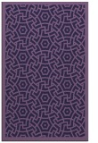 rug #363465 |  purple geometry rug