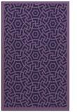 rug #363465 |  blue-violet geometry rug