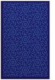 rug #363473    blue-violet borders rug