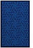 rug #363537 |  blue circles rug