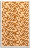 rug #363561 |  orange circles rug