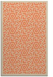 rug #363565 |  orange circles rug