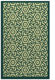 rug #363573 |  blue-green circles rug