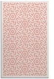 rug #363589 |  pink geometry rug