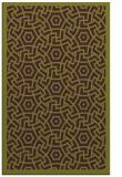 rug #363597 |  green circles rug