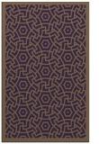rug #363601    mid-brown borders rug