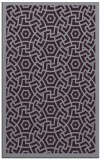 rug #363605 |  purple circles rug