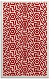 rug #363609 |  red geometry rug