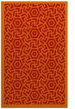 rug #363613 |  orange circles rug