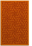 rug #363625 |  red-orange geometry rug