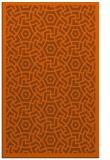 rug #363633 |  red-orange circles rug