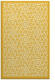 rug #363657 |  yellow circles rug