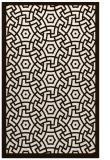 rug #363665 |  brown circles rug