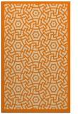 rug #363685 |  orange circles rug