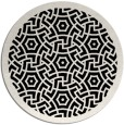 rug #363725 | round white circles rug