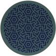 rug #363753 | round blue circles rug