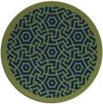 rug #363757 | round green circles rug
