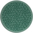 rug #363777   round blue-green borders rug