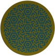 rug #363781 | round blue-green borders rug
