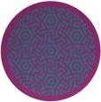 rug #363785 | round pink rug