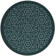 rug #363793   round blue-green borders rug