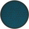 rug #363801 | round blue-green borders rug