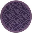 rug #363817   round purple borders rug