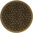rug #363837 | round mid-brown circles rug