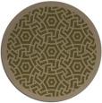 rug #363841 | round brown borders rug