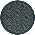 rug #363849 | round green circles rug