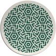 rug #363853 | round green circles rug