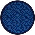 rug #363889   round blue borders rug