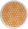 rug #363913 | round orange circles rug