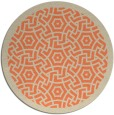 rug #363917 | round orange borders rug